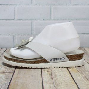 Mephisto Flower Leather Thong Sandals Size 38 US 8